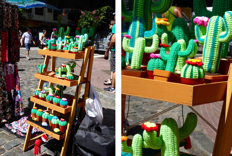 Easy-to-look after, these knitted plants stole the show for me!