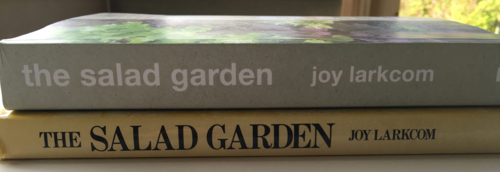two editions of joy larkcoms the salad garden