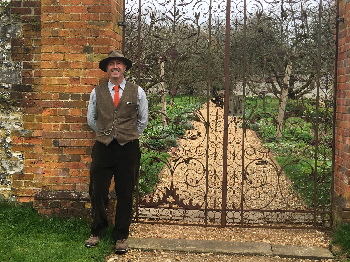 Andrew Bentley head gardener chawton house