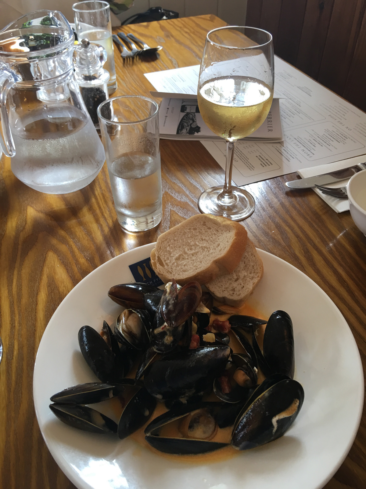 Barbara Segall and Marcus Harpur's seafood lunch at Loch Fyne in Elton