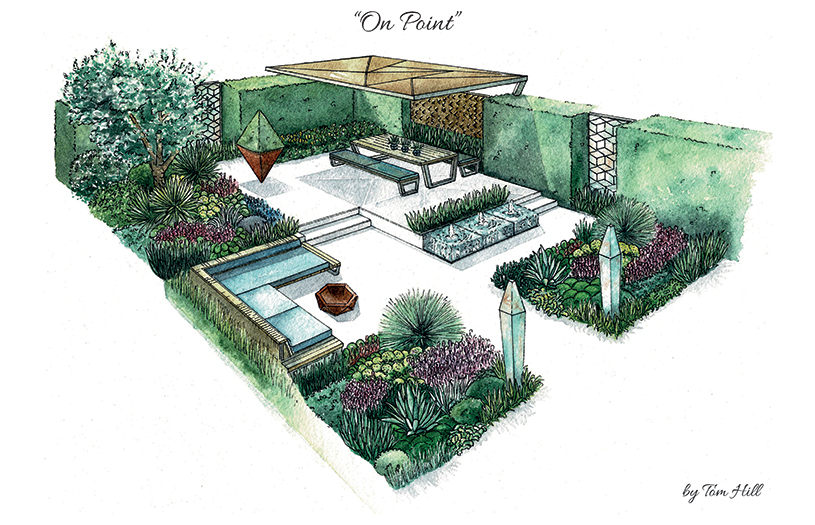 plans and drawings at ascot spring garden show 2018: tom hill