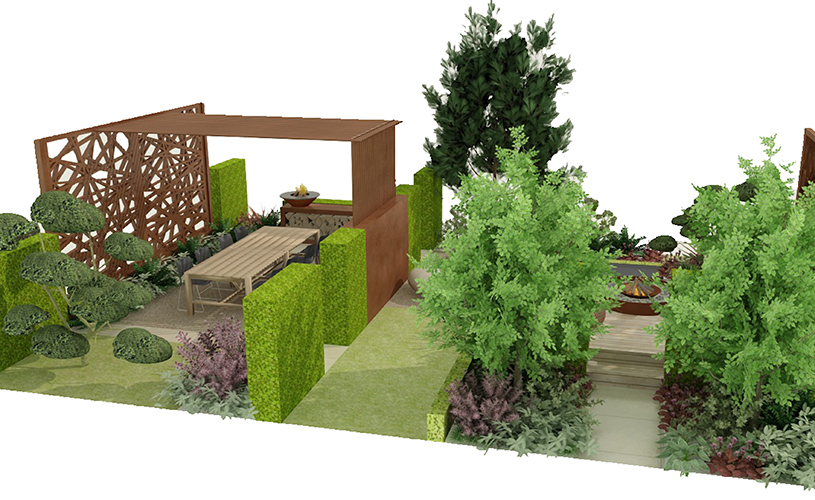 plans on display at ascot spring garden show 2018: kate gould