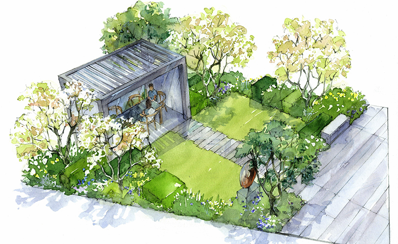 drawings and plans at ascot spring garden show 2018: catherine macdonald