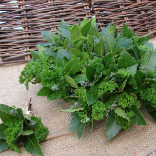 bouquet garni with bay leaves