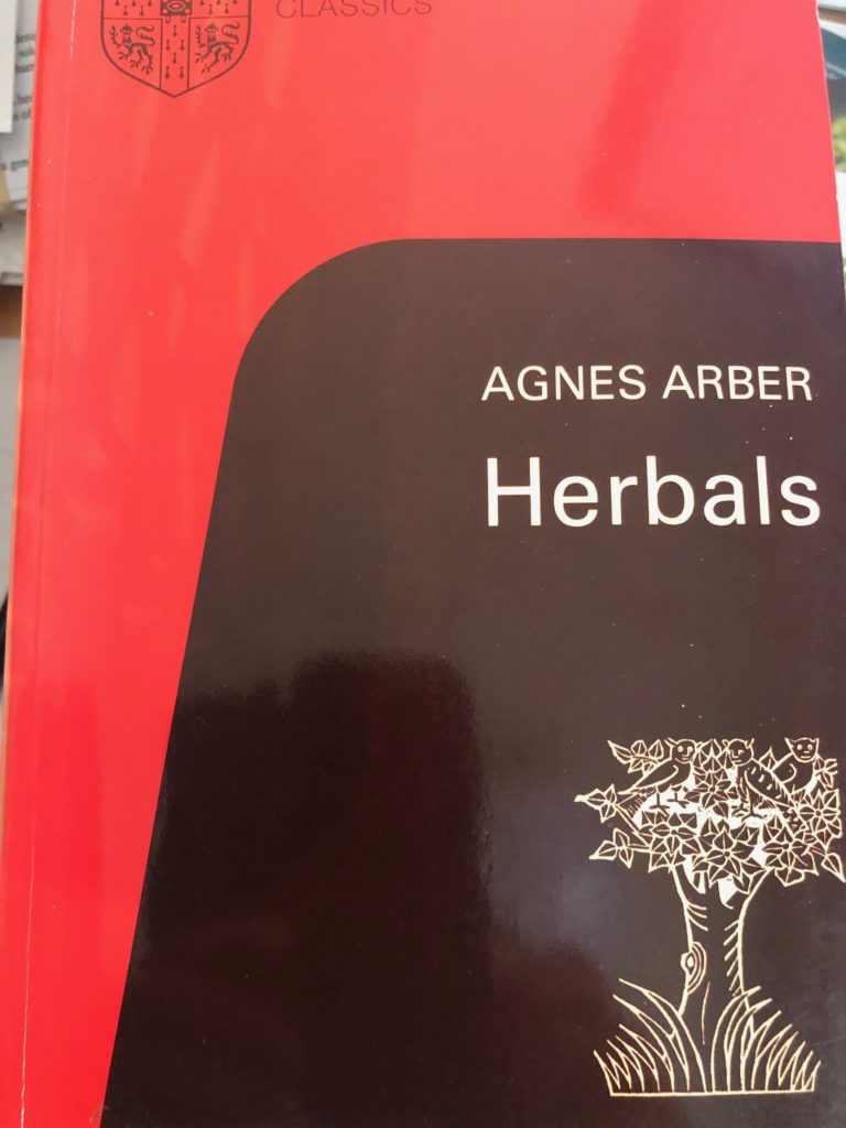 book cover agnes arber's Herbals